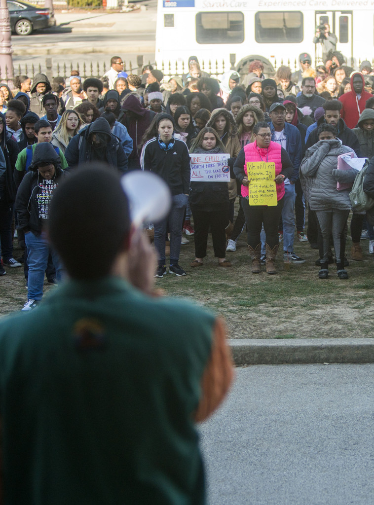 We want change': Scenes from the student walkout to demand stricter